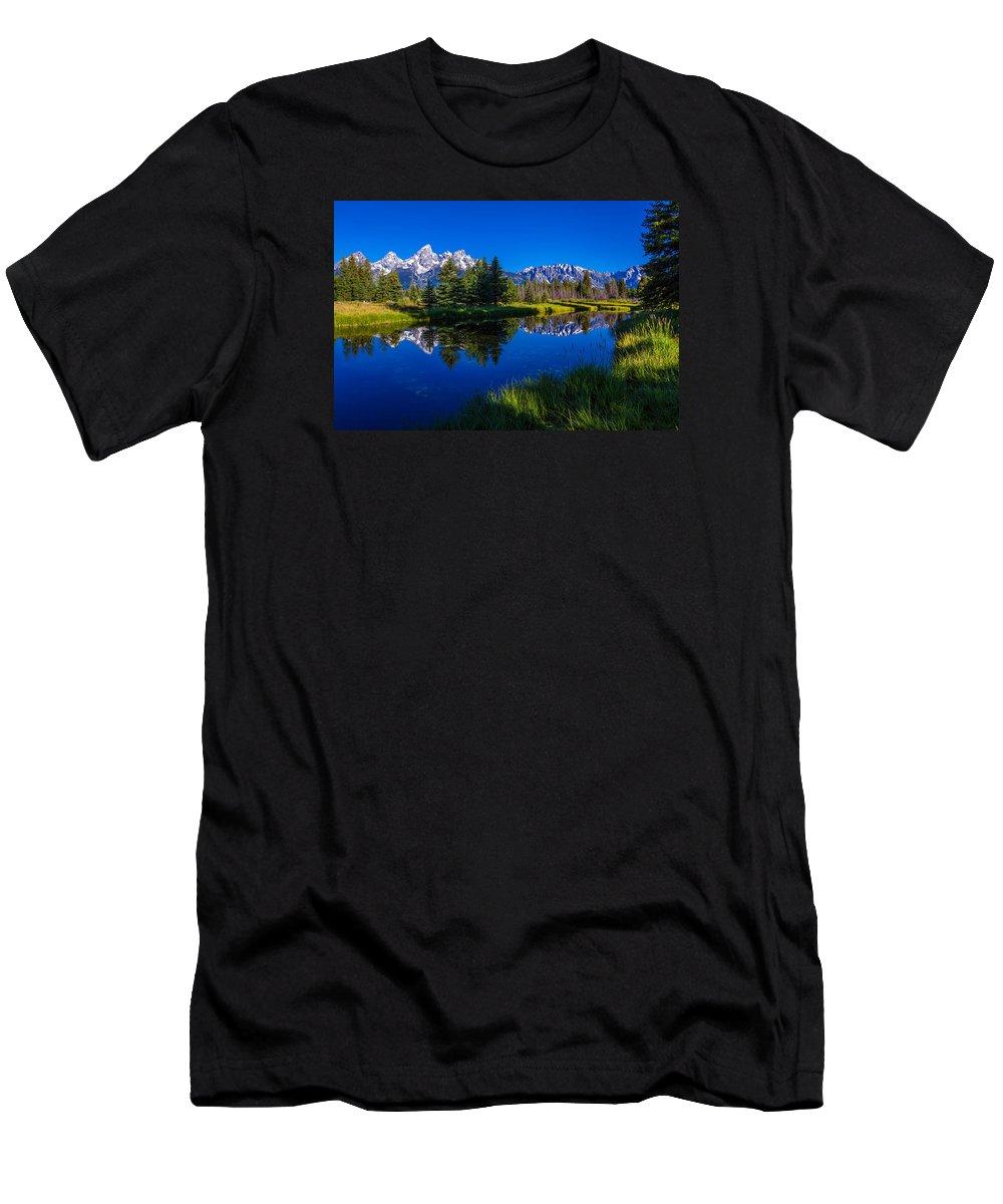Teton Reflection T-Shirt featuring the photograph Teton Reflection by Chad Dutson