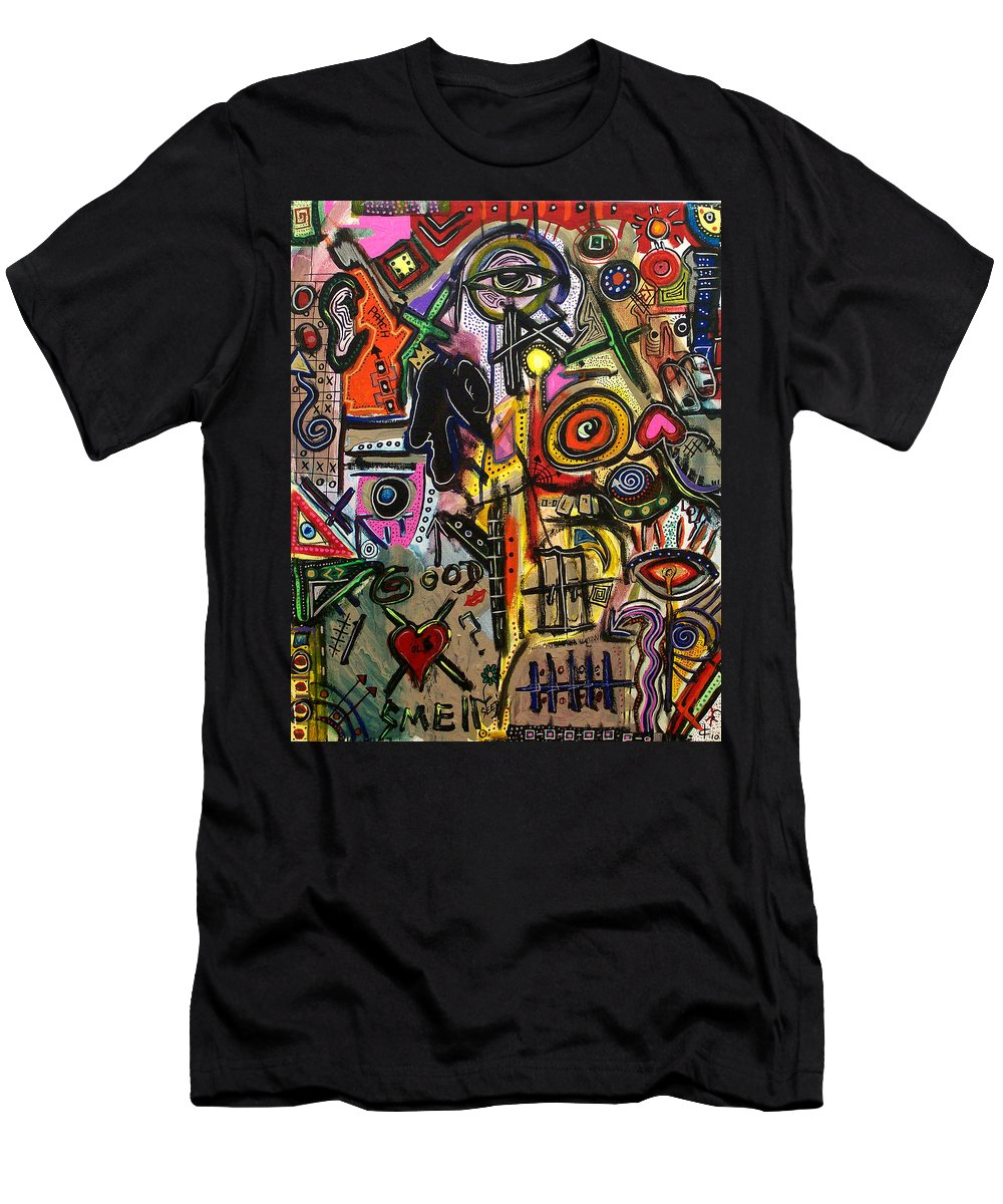 Abstract Men's T-Shirt (Athletic Fit) featuring the digital art That Good Ol Smell by Kamoni Khem