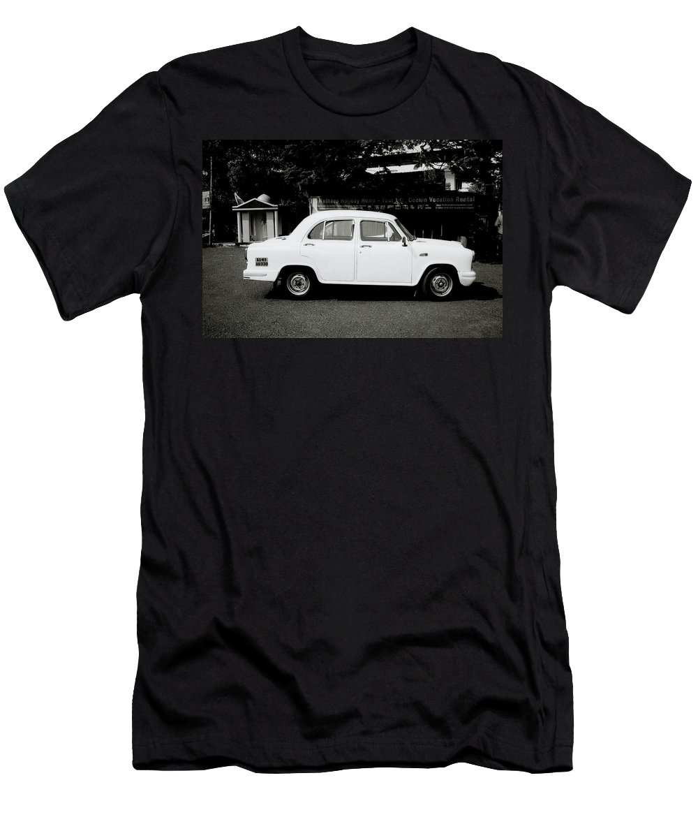 India Men's T-Shirt (Athletic Fit) featuring the photograph The Ambassador Car by Shaun Higson