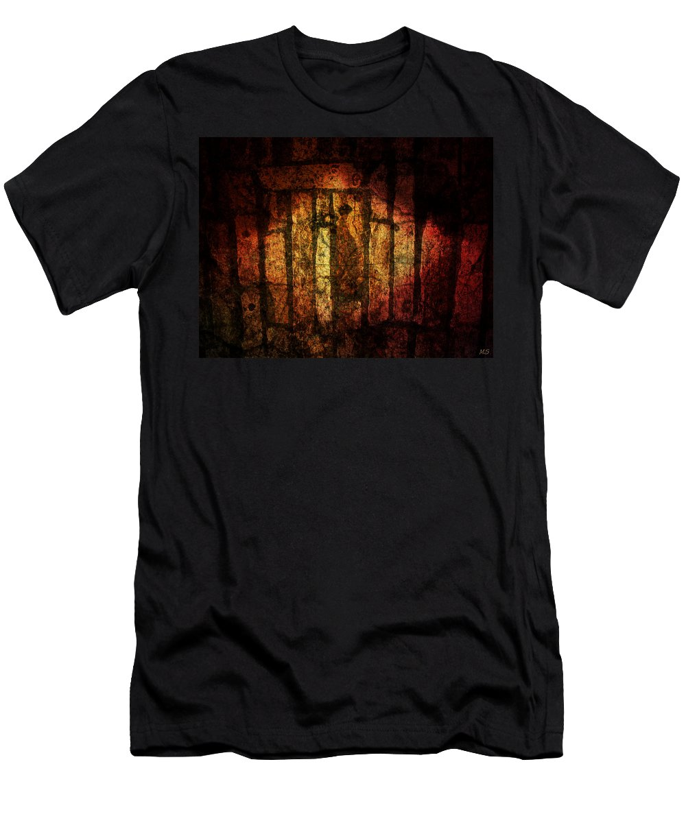 Stones Men's T-Shirt (Athletic Fit) featuring the digital art The Ancient Stones by Absinthe Art By Michelle LeAnn Scott