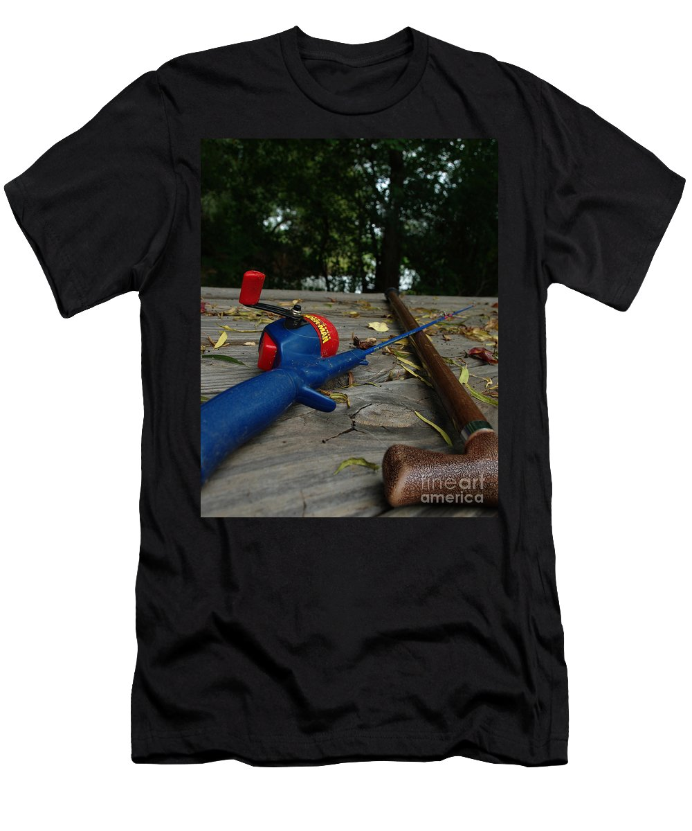 Angling Men's T-Shirt (Athletic Fit) featuring the photograph The Anglers by Peter Piatt