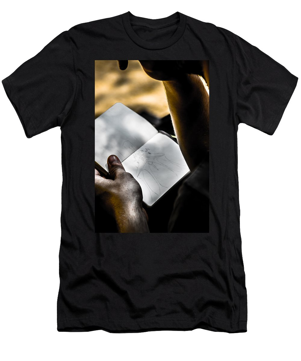 The Artist Photographs Men's T-Shirt (Athletic Fit) featuring the photograph The Artist by Sotiris Filippou