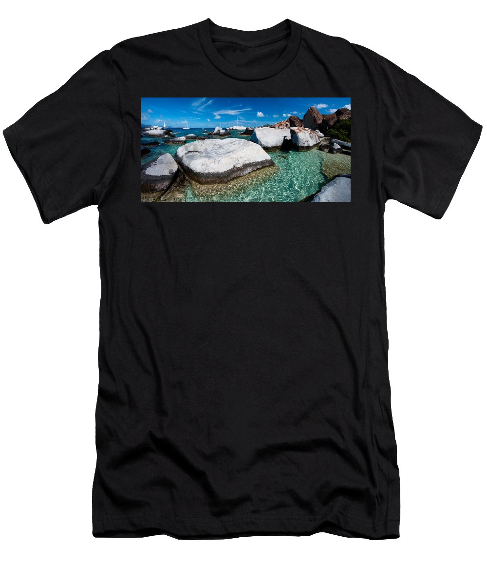 3scape Men's T-Shirt (Athletic Fit) featuring the photograph The Baths by Adam Romanowicz