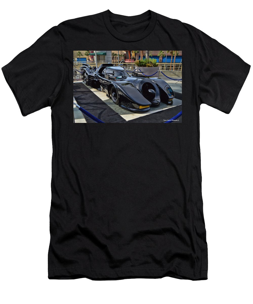 Batmobile Men's T-Shirt (Athletic Fit) featuring the photograph The Batmobile by Tommy Anderson
