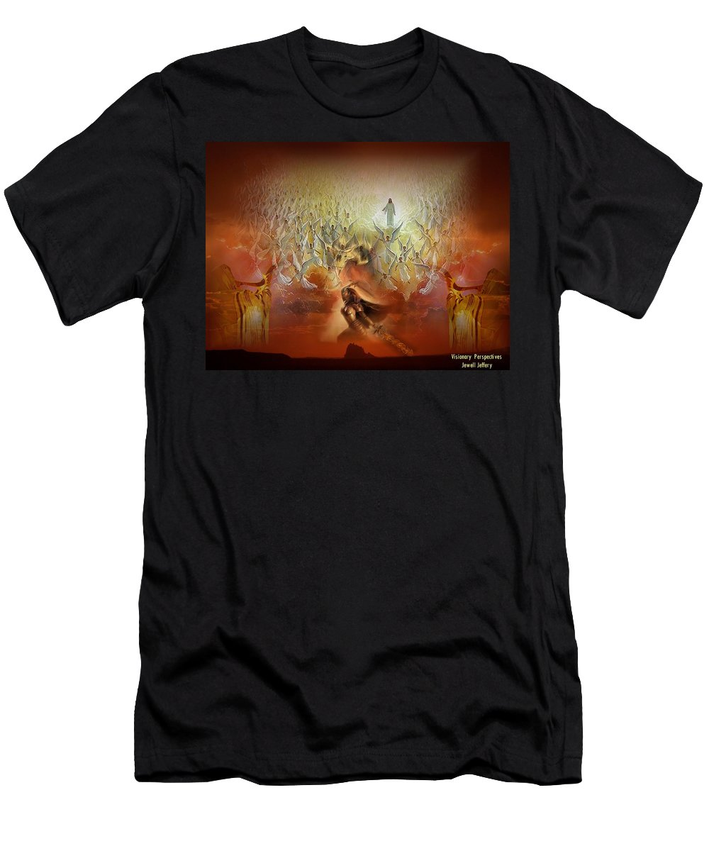Battle Men's T-Shirt (Athletic Fit) featuring the digital art The Battle Is His by Jewell McChesney