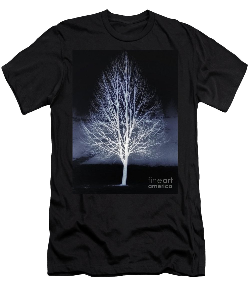 Winter Men's T-Shirt (Athletic Fit) featuring the photograph The Beauty Of Maple Hill by Chet B Simpson