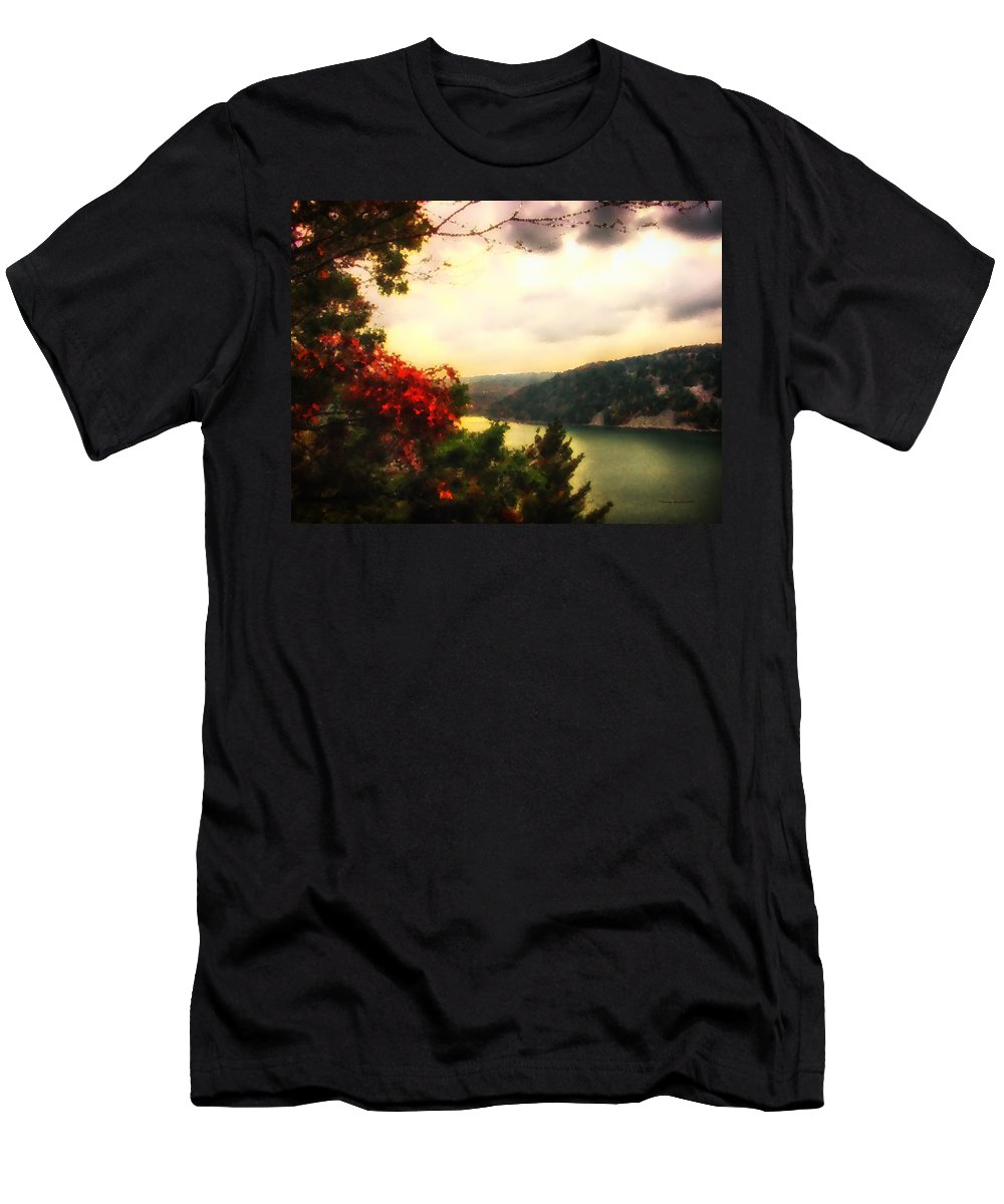 Autumn Men's T-Shirt (Athletic Fit) featuring the photograph The Beginning Of Autumn by Thomas Woolworth