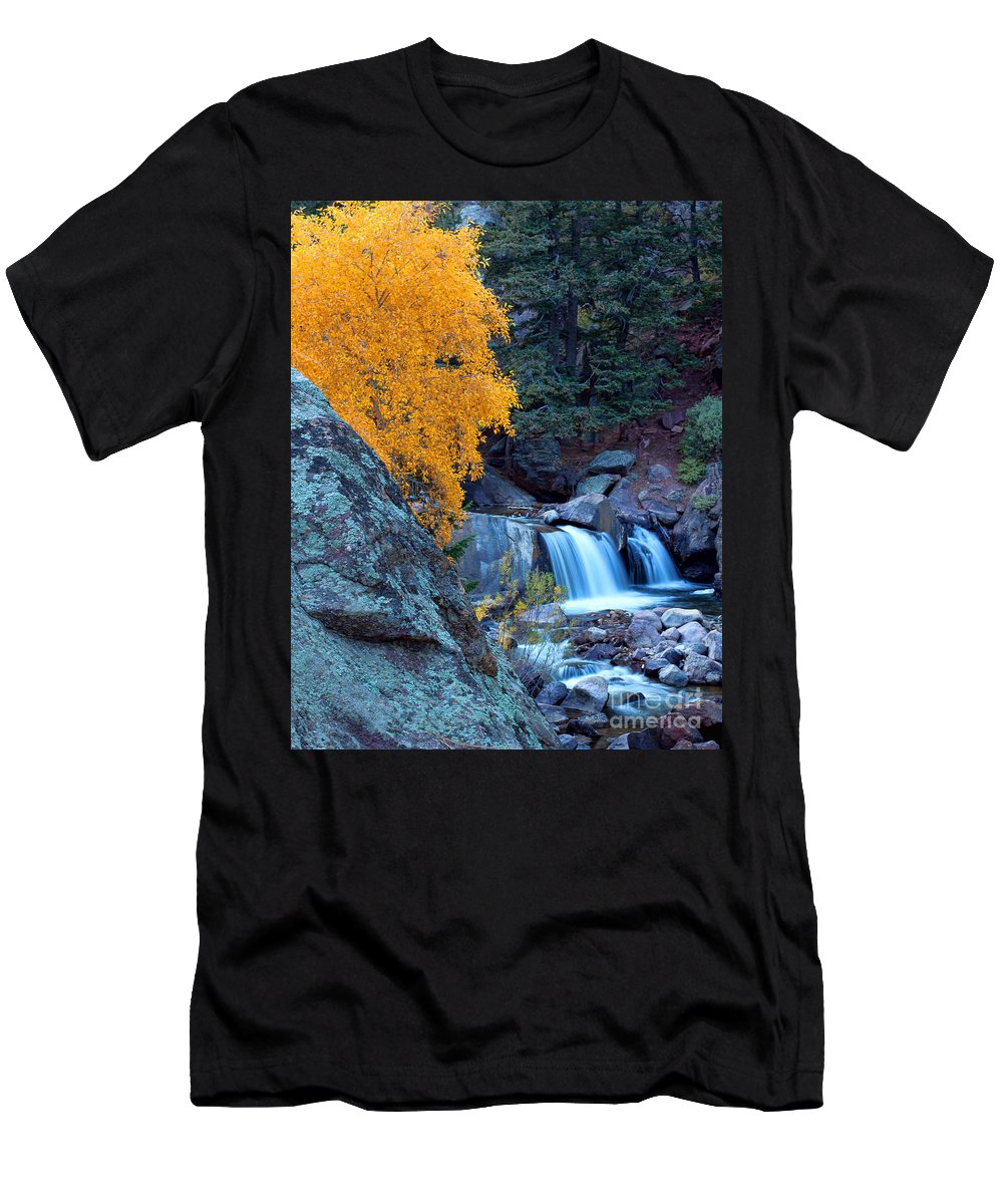 Autumn Colors Men's T-Shirt (Athletic Fit) featuring the photograph The Big Cheese by Jim Garrison