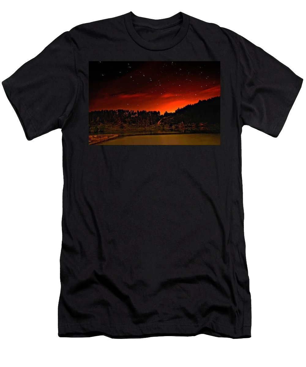 Big Dipper Men's T-Shirt (Athletic Fit) featuring the photograph The Big Dipper by Steve Harrington