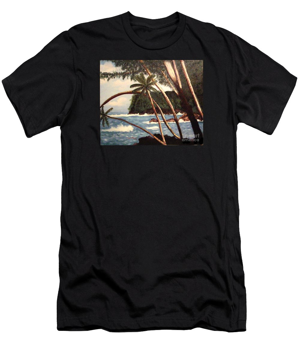 Hawaii Men's T-Shirt (Athletic Fit) featuring the painting The Big Island by Laurie Morgan