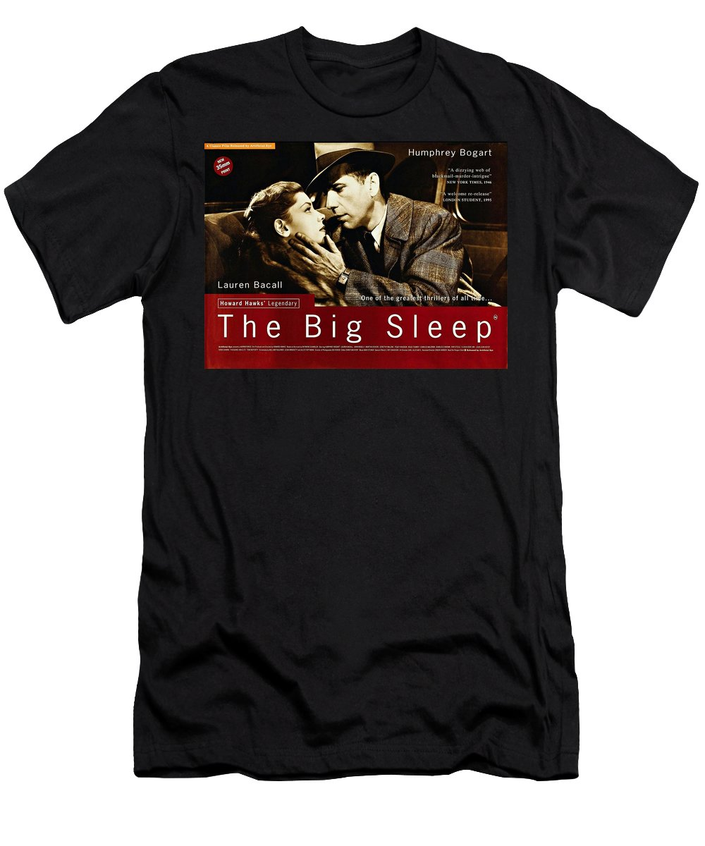 The Big Sleep Men's T-Shirt (Athletic Fit) featuring the photograph The Big Sleep by Movie Poster Prints