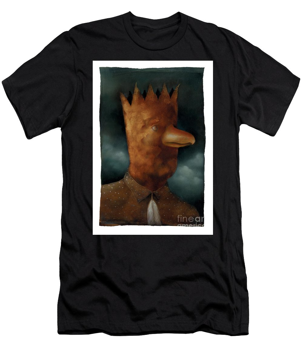 Bird Men's T-Shirt (Athletic Fit) featuring the painting The Bird King by Chris Van Es