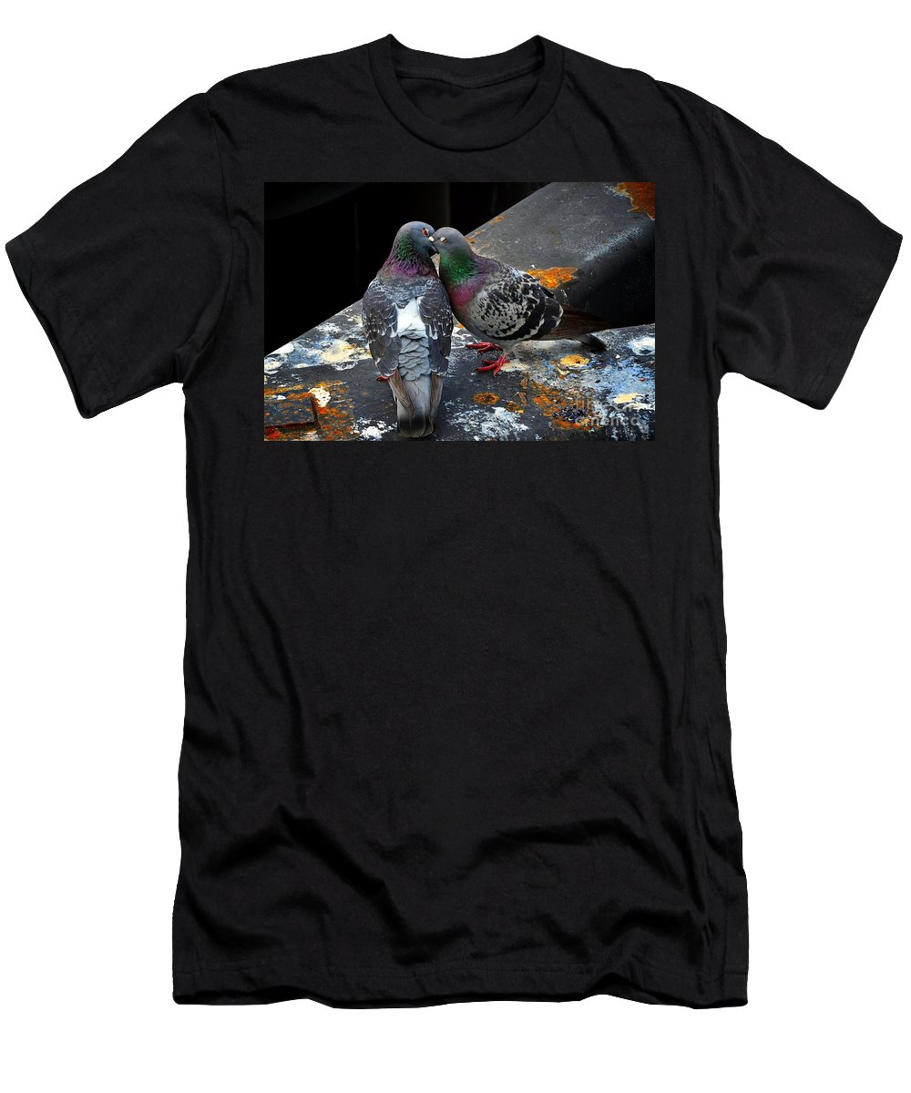 Abstract Men's T-Shirt (Athletic Fit) featuring the photograph The Bliss Of A Kiss by Lauren Leigh Hunter Fine Art Photography