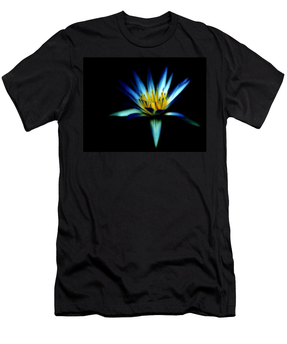 Blue Men's T-Shirt (Athletic Fit) featuring the photograph The Blue Lotus Of Egypt by Wayne Sherriff