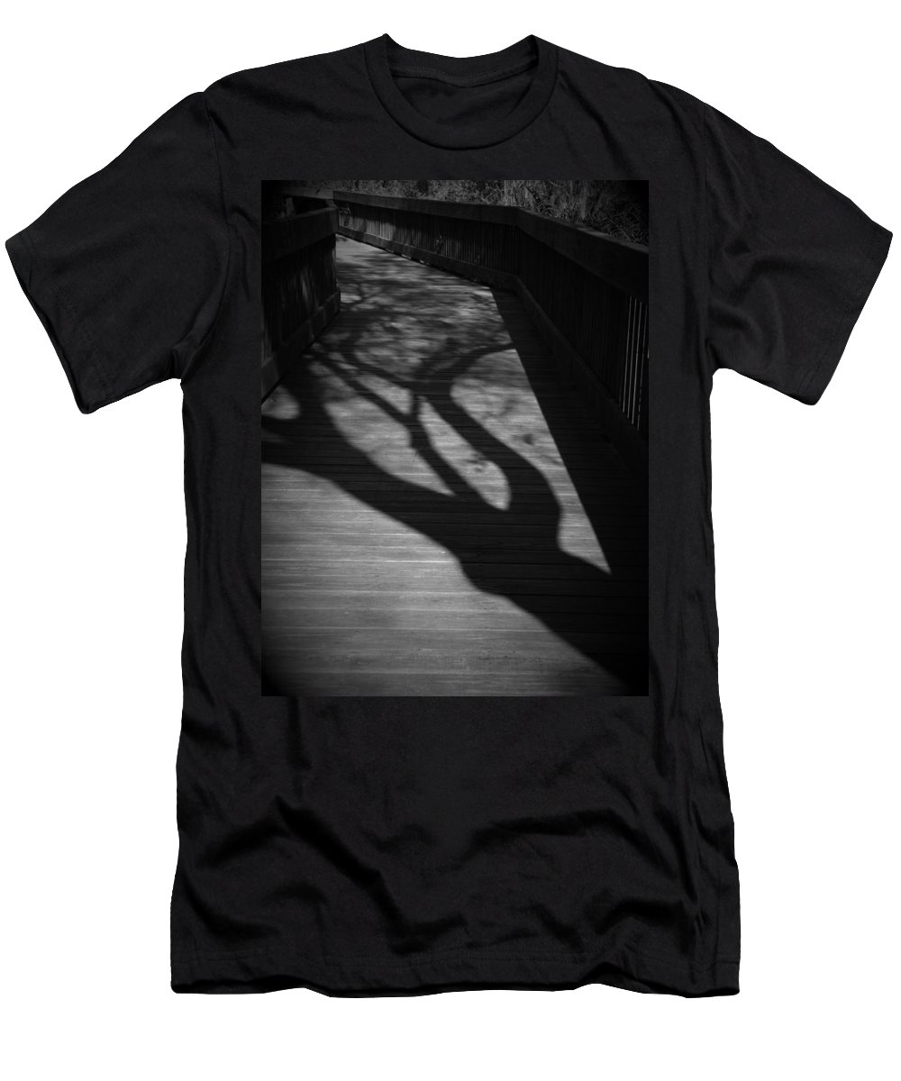 Black Men's T-Shirt (Athletic Fit) featuring the photograph The Boardwalk by Phil Penne