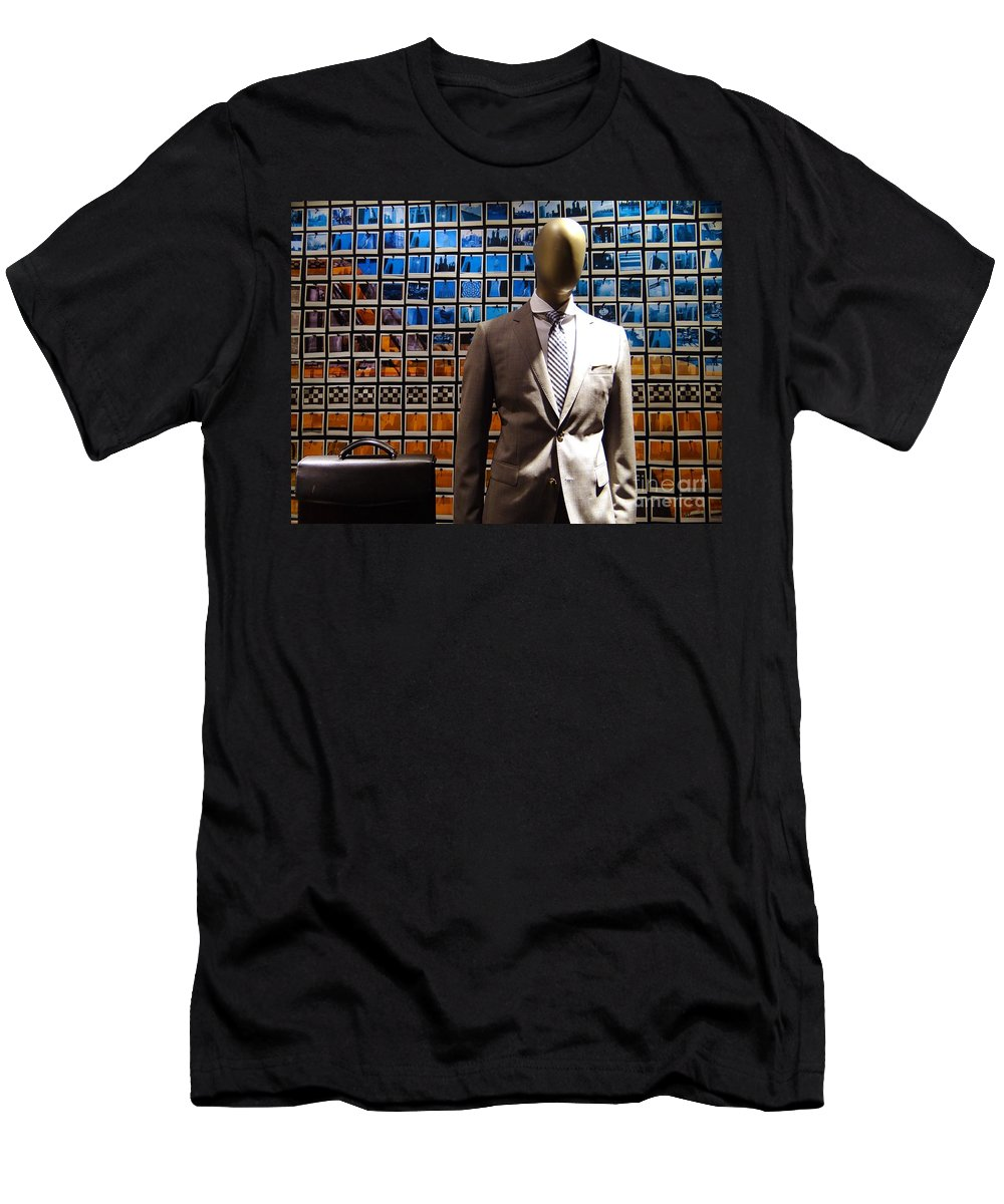 Mannequin Men's T-Shirt (Athletic Fit) featuring the photograph The Businessman by Ed Weidman