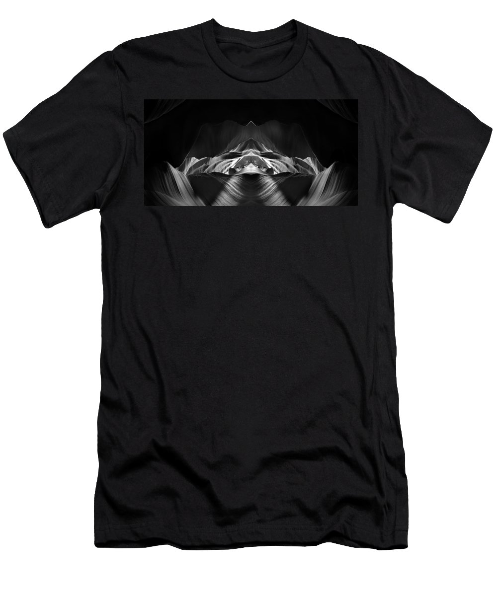 3scape Men's T-Shirt (Athletic Fit) featuring the photograph The Cave by Adam Romanowicz