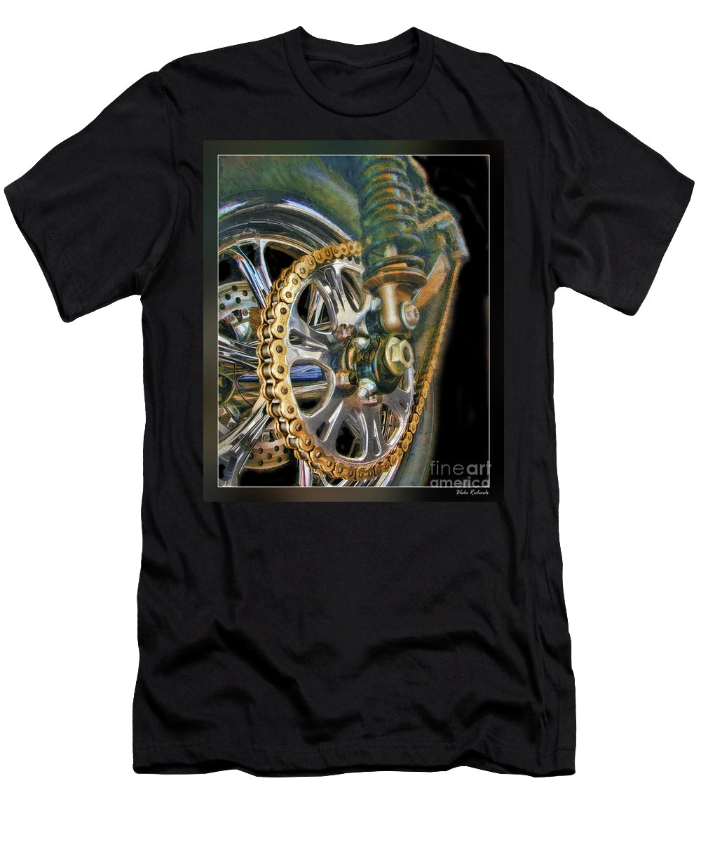 Motorcycle Men's T-Shirt (Athletic Fit) featuring the photograph The Chain by Blake Richards
