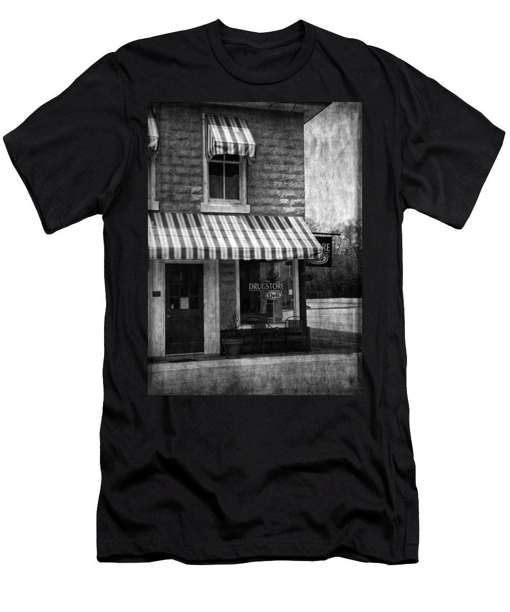 Building Men's T-Shirt (Athletic Fit) featuring the photograph The Corner Deli by Kim Hojnacki