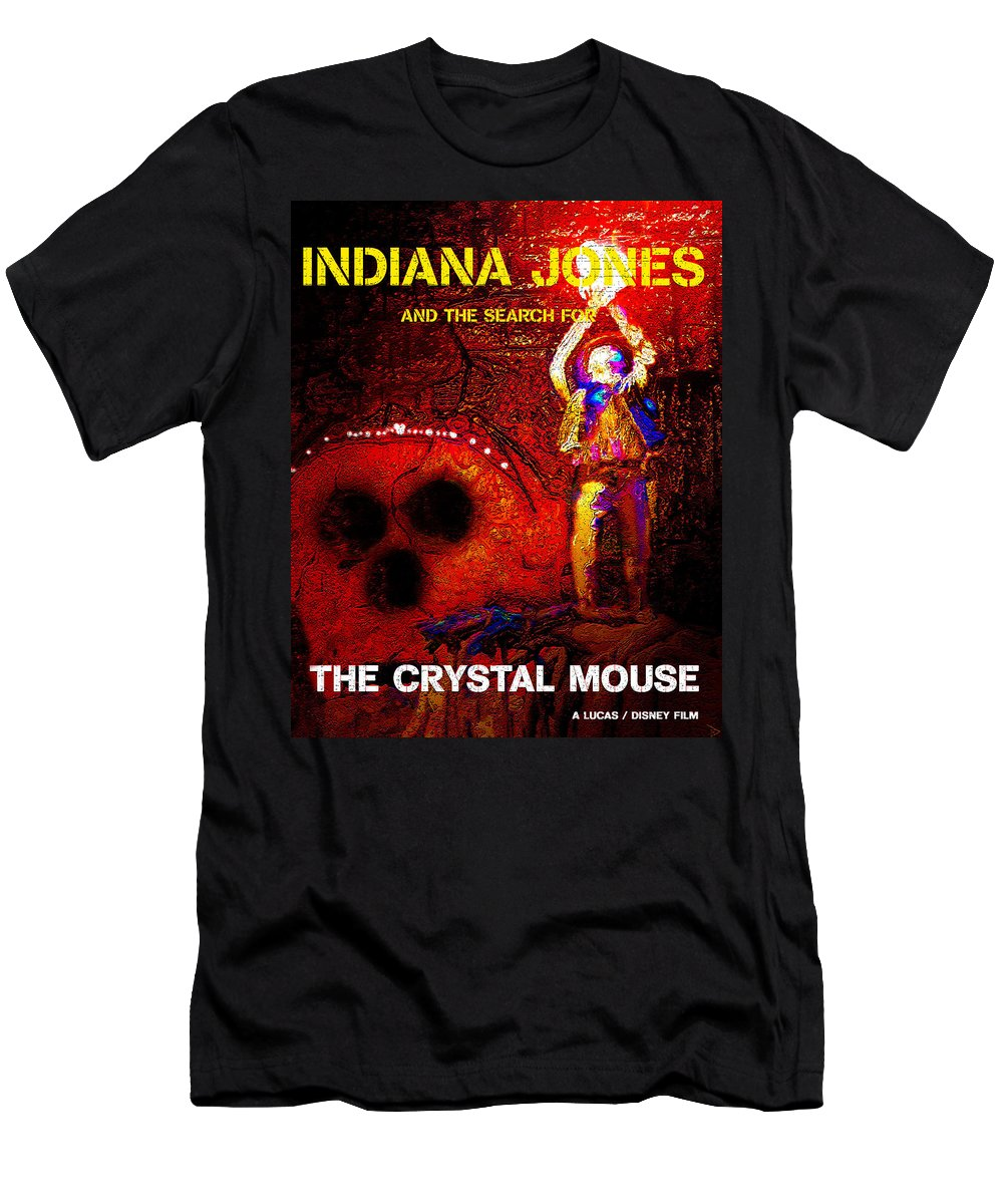 Indiana Jones Men's T-Shirt (Athletic Fit) featuring the painting The Crystal Mouse by David Lee Thompson