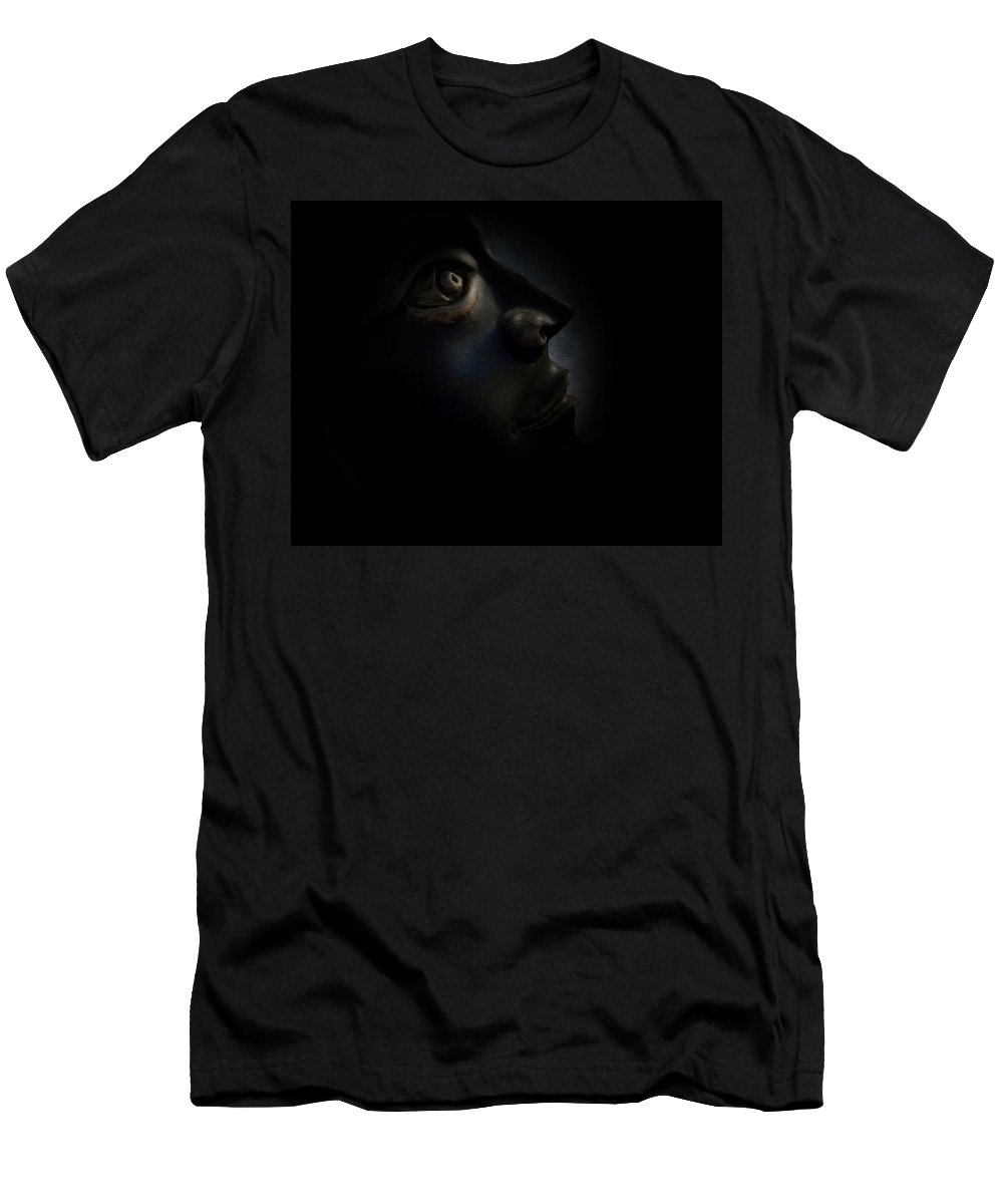 Man Men's T-Shirt (Athletic Fit) featuring the photograph The Darkest Hour by David Dehner