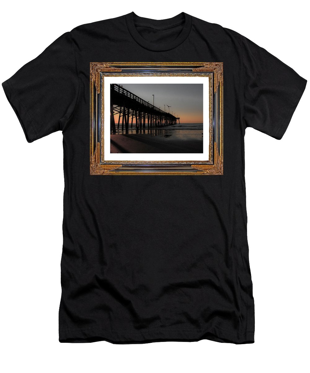 Topsail Men's T-Shirt (Athletic Fit) featuring the mixed media The Day Is Born by Betsy Knapp