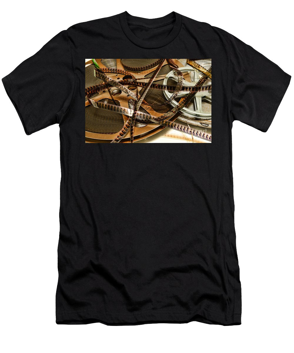 Paul Ward Men's T-Shirt (Athletic Fit) featuring the photograph The Days Of Film by Paul Ward