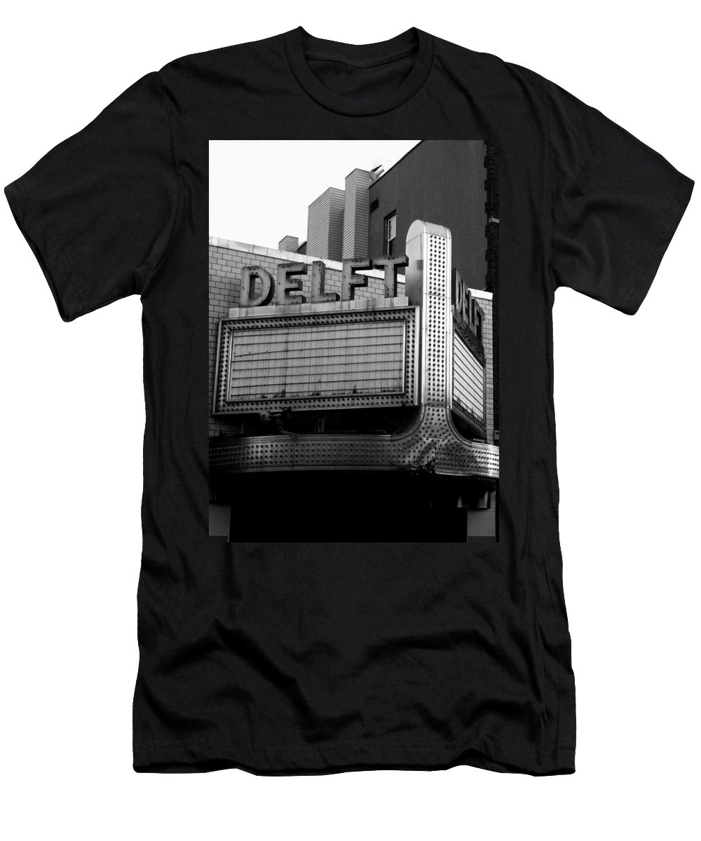 Theaters Men's T-Shirt (Athletic Fit) featuring the photograph The Delft Marquette Mi by Michelle Calkins