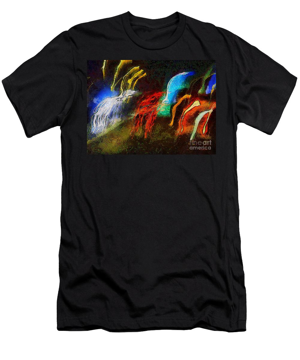 Abstract Men's T-Shirt (Athletic Fit) featuring the painting The Dragons Of Desire by RC DeWinter