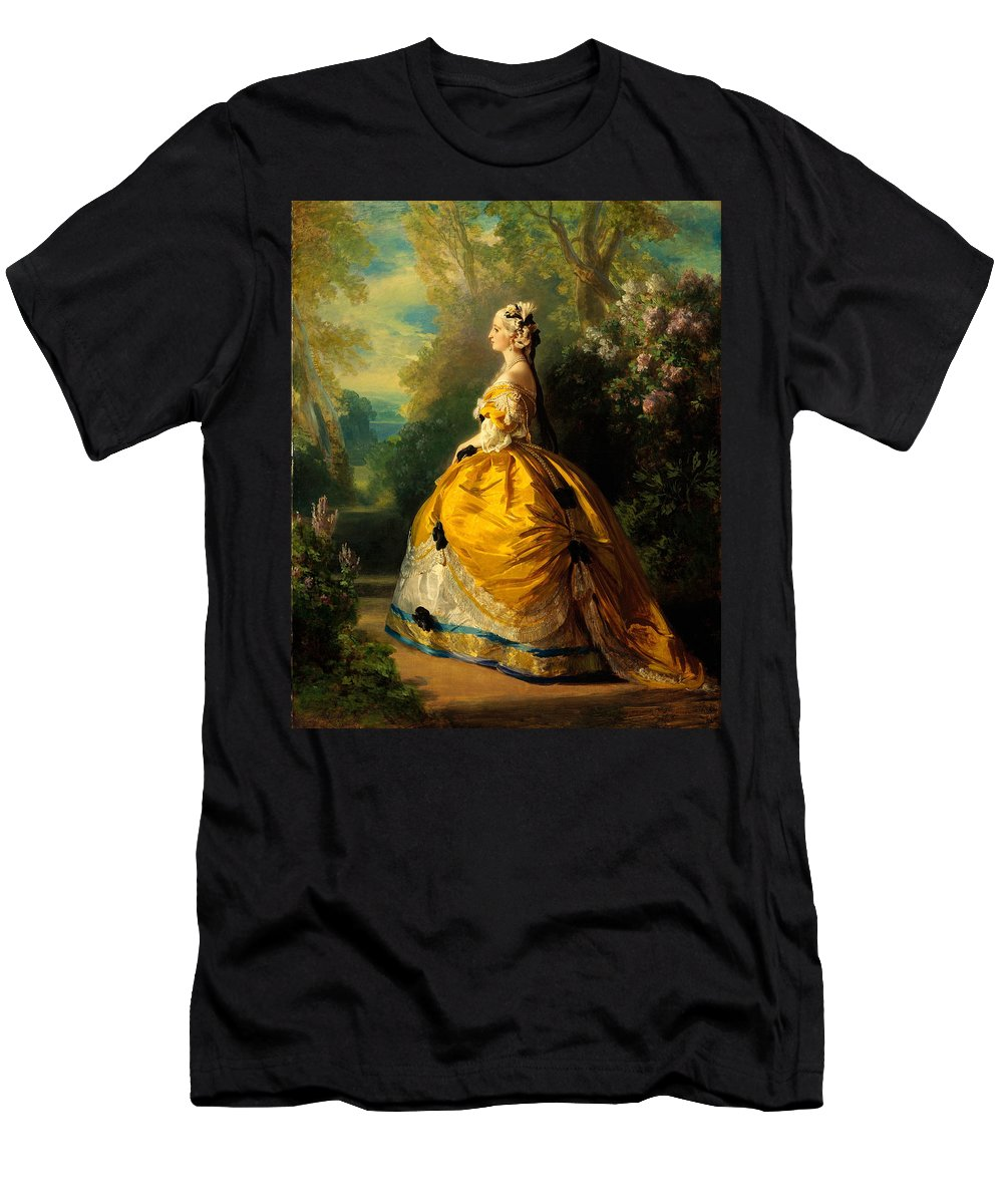 Franz Xaver Winterhalter The Empress Eugenie Men's T-Shirt (Athletic Fit) featuring the painting The Empress Eugenie by Franz Xaver Winterhalter