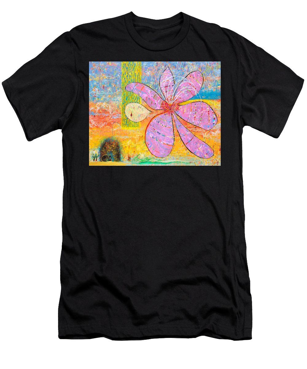 Christian Men's T-Shirt (Athletic Fit) featuring the painting The Empty Tomb by Anne Cameron Cutri