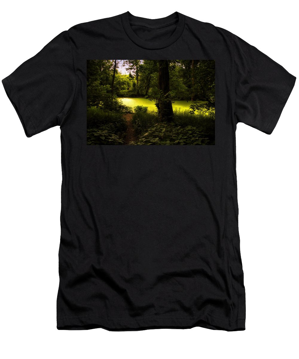 Surrealism Men's T-Shirt (Athletic Fit) featuring the photograph The End Of The Path by Thomas Woolworth