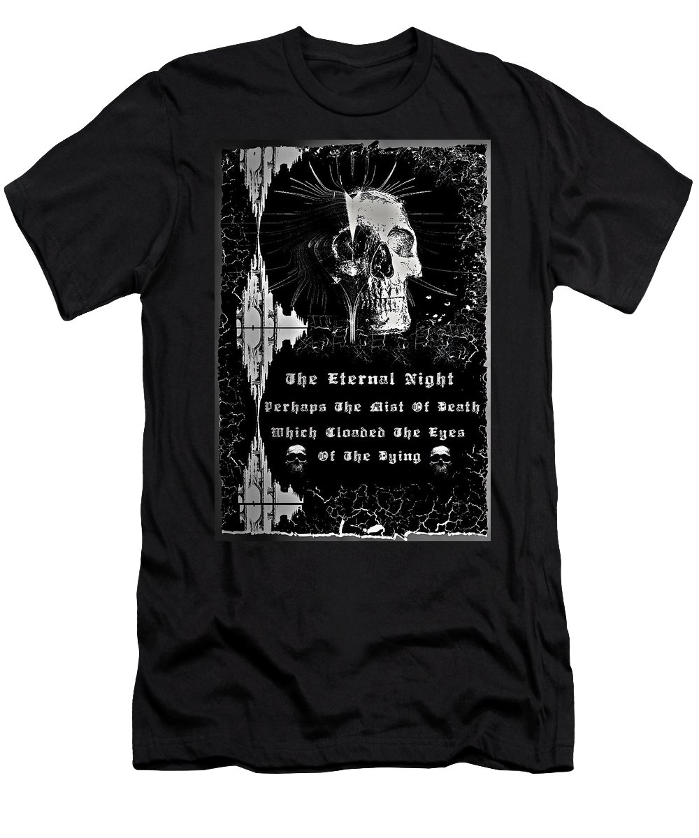 Eternal Men's T-Shirt (Athletic Fit) featuring the digital art The Eternal Night by Michael Damiani