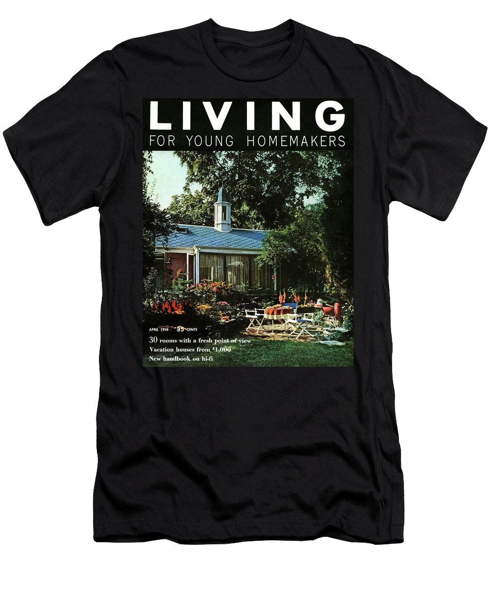 Furniture T-Shirt featuring the digital art The Exterior Of A House And Patio Furniture by Nowell Ward