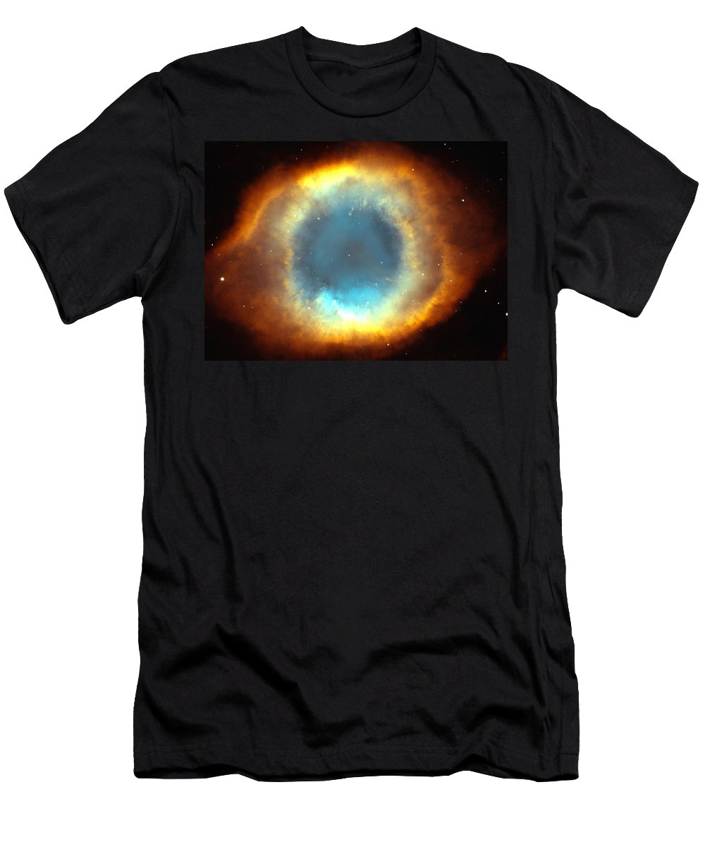 Telescope Men's T-Shirt (Athletic Fit) featuring the photograph The Eye Of God-helix Nebula Close Up by Eti Reid
