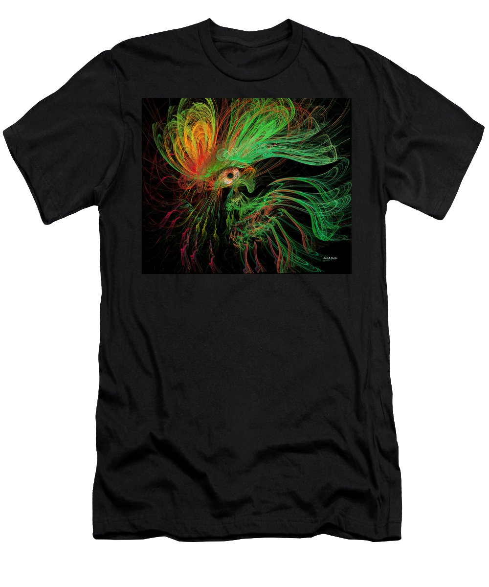 Medusa Men's T-Shirt (Athletic Fit) featuring the painting The Eye Of The Medusa by Angela Stanton