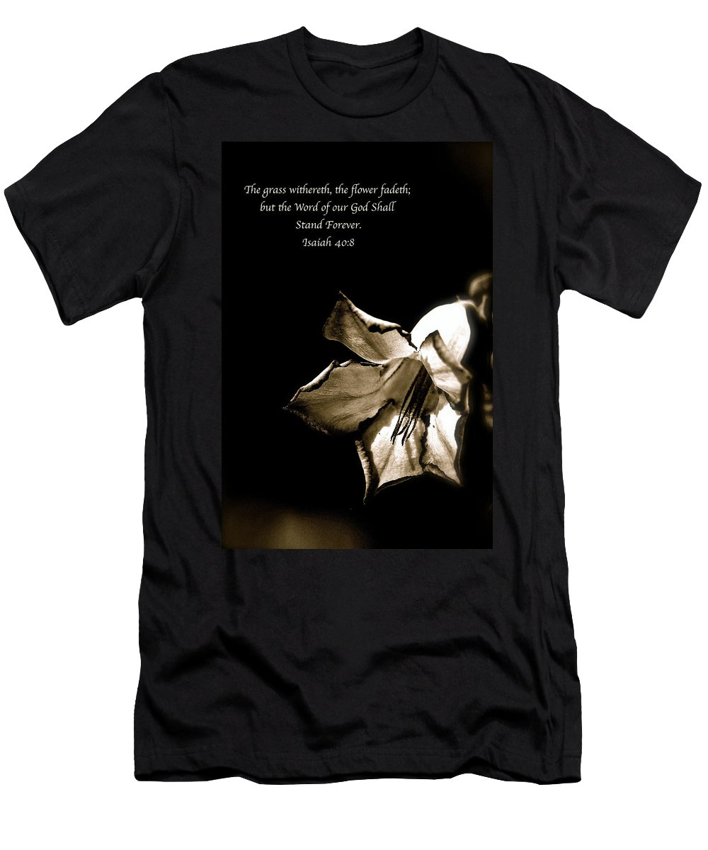Flower Men's T-Shirt (Athletic Fit) featuring the photograph The Flower Fadeth by Debbie Nobile