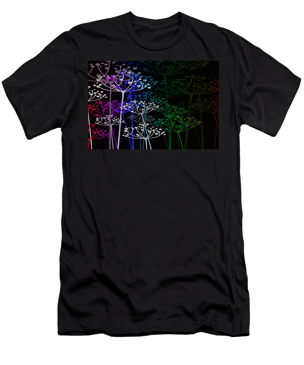 Fred Mefeely Rogers Men's T-Shirt (Athletic Fit) featuring the mixed media The Garden Of Your Mind Rainbow 1 by Angelina Vick