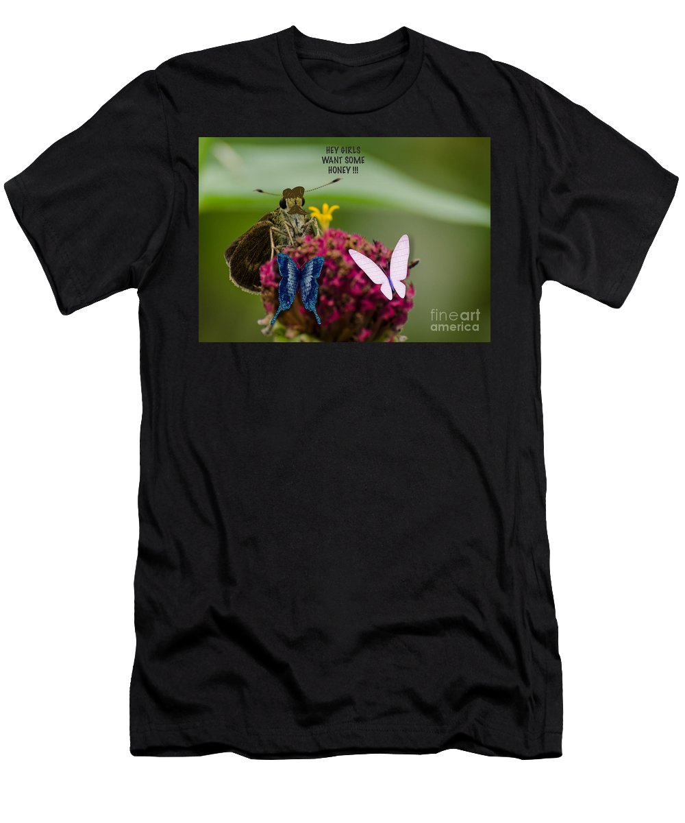 Digital Men's T-Shirt (Athletic Fit) featuring the photograph The Gentleman by Donna Brown