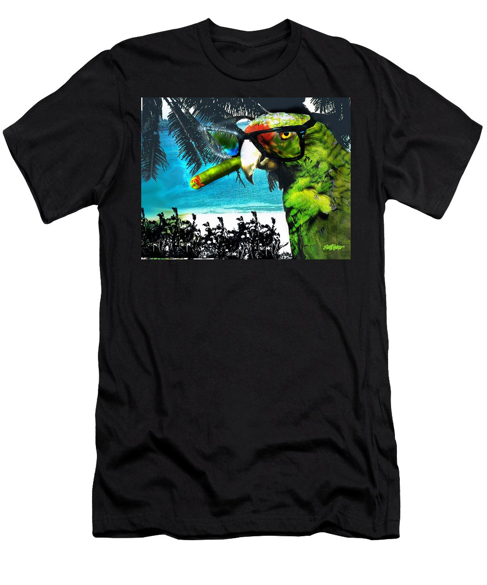 The Great Bird Of Casablanca Men's T-Shirt (Athletic Fit) featuring the digital art The Great Bird Of Casablanca by Seth Weaver