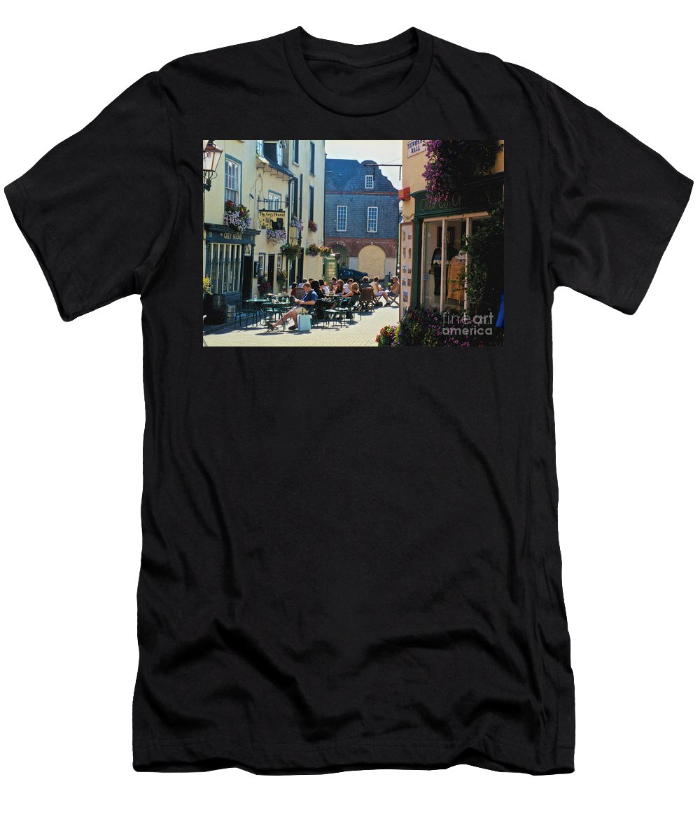The Grey Hound Men's T-Shirt (Athletic Fit) featuring the photograph The Grey Hound by William Norton