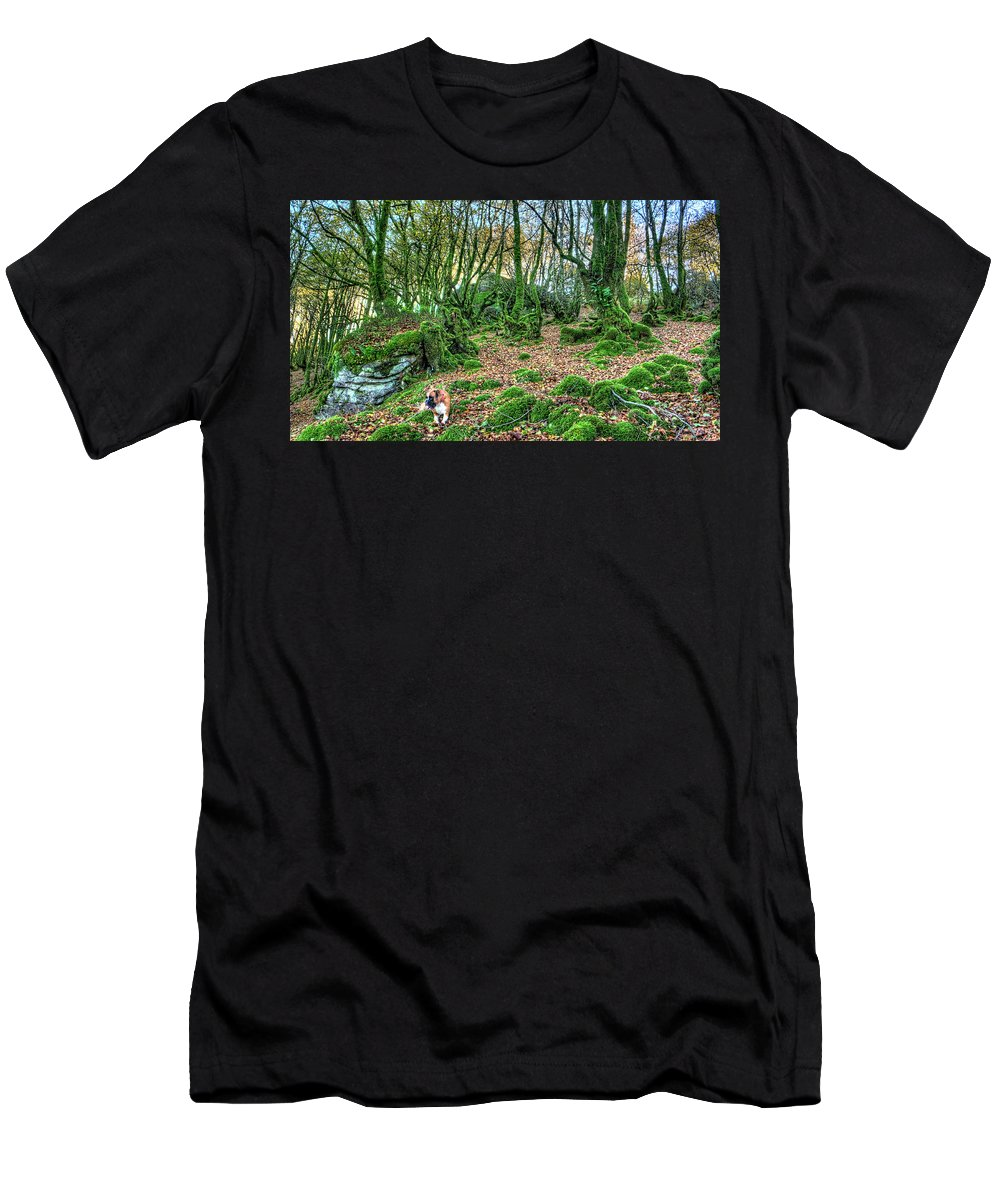 Boxer Men's T-Shirt (Athletic Fit) featuring the photograph The Guardian Of The Dead Dragon by Weston Westmoreland