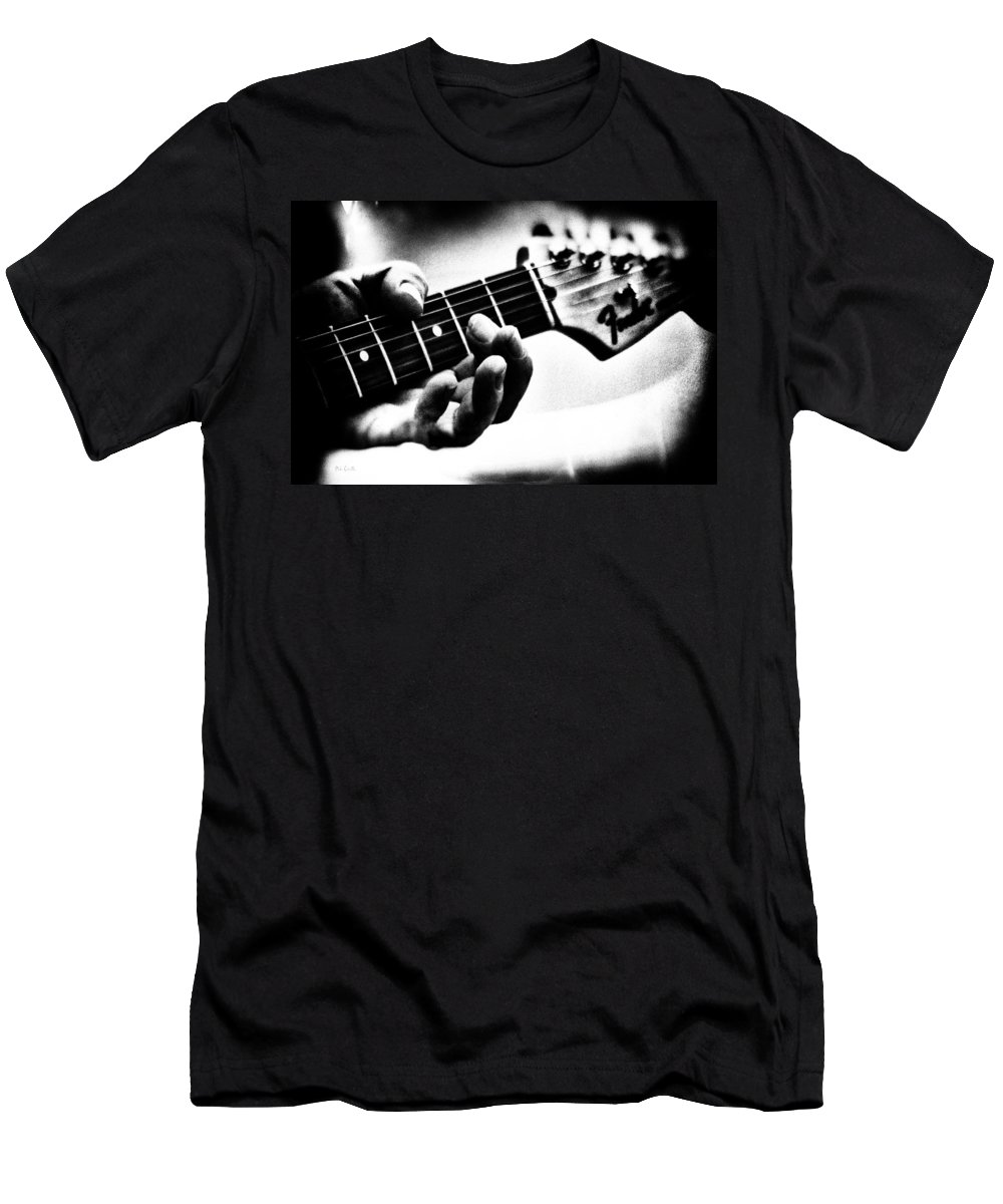 Fender Men's T-Shirt (Athletic Fit) featuring the photograph The Guitar by Bob Orsillo