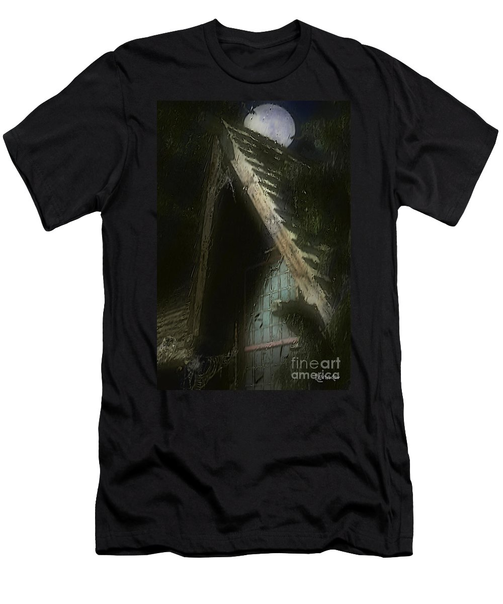 House Men's T-Shirt (Athletic Fit) featuring the painting The Haunted Gable by RC DeWinter
