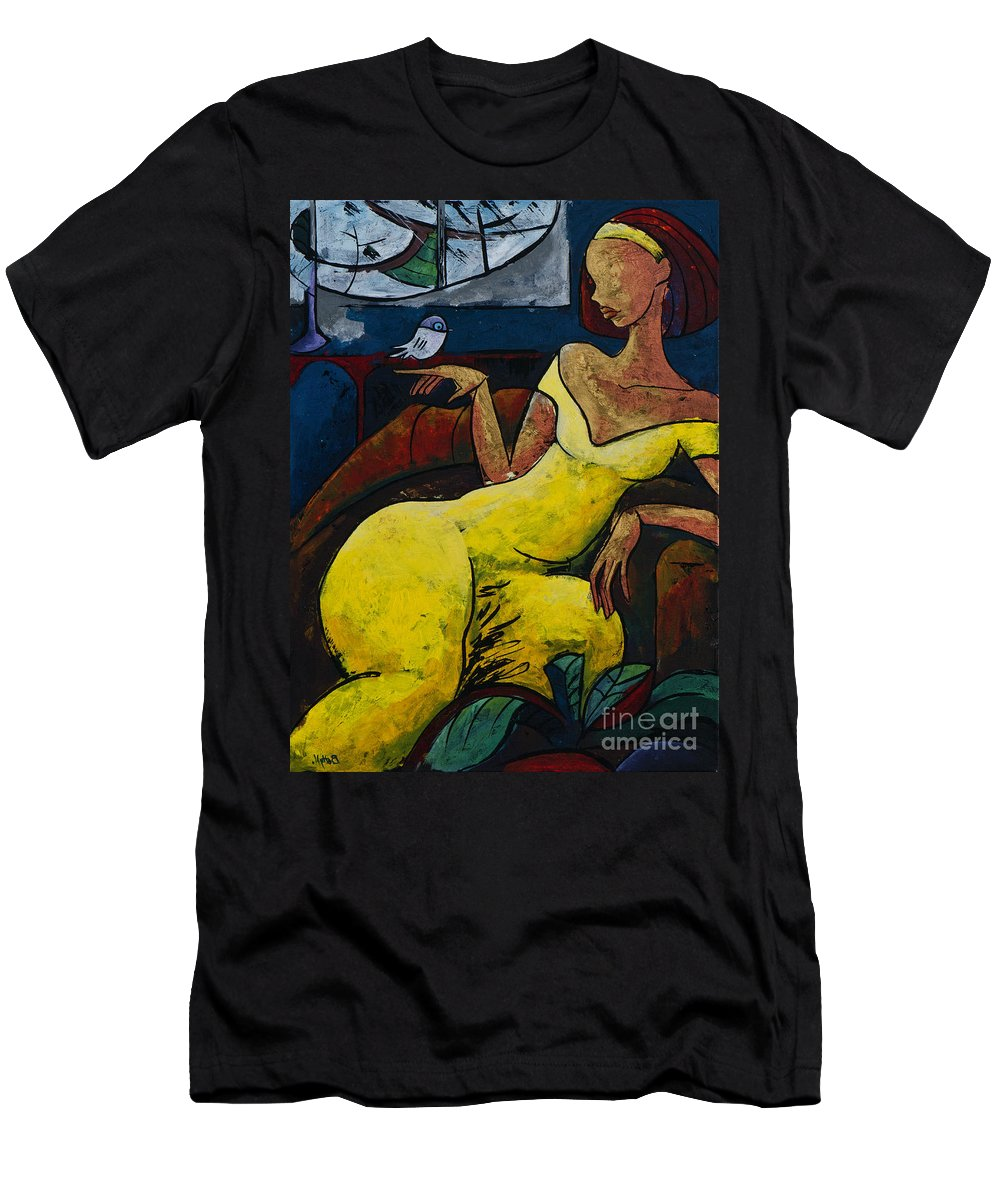Love T-Shirt featuring the painting The Healing Process - From The Eternal WHYs series by Elisabeta Hermann