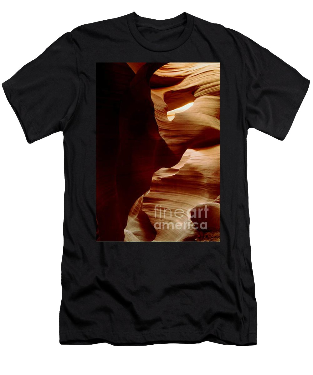 Landscape Men's T-Shirt (Athletic Fit) featuring the photograph The Heart Of Antelope Canyon by Kathy McClure