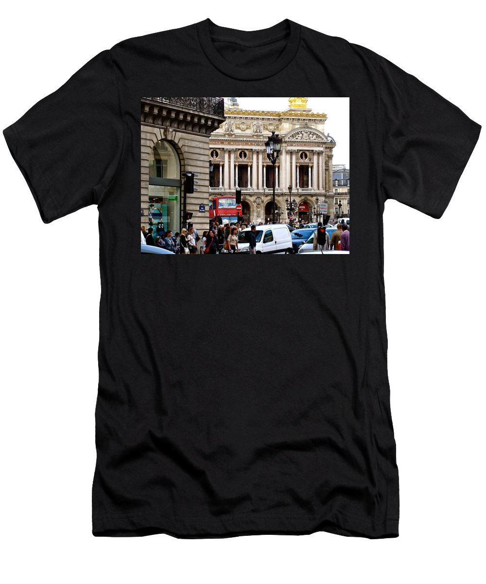 Paris Opera Men's T-Shirt (Athletic Fit) featuring the photograph The Heart Of Paris by Ira Shander