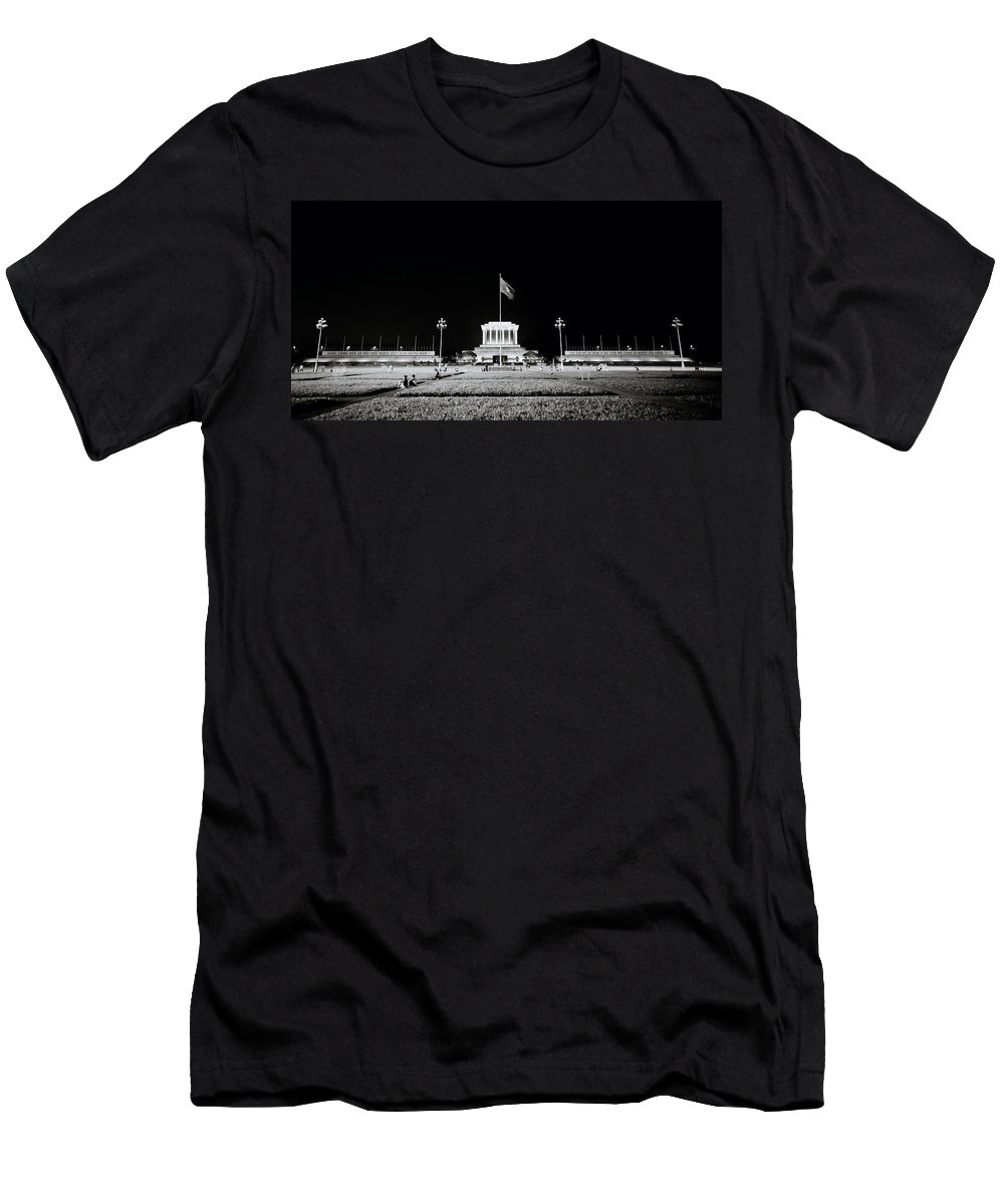 Asia Men's T-Shirt (Athletic Fit) featuring the photograph The Ho Chi Minh Mausoleum In Hanoi by Shaun Higson