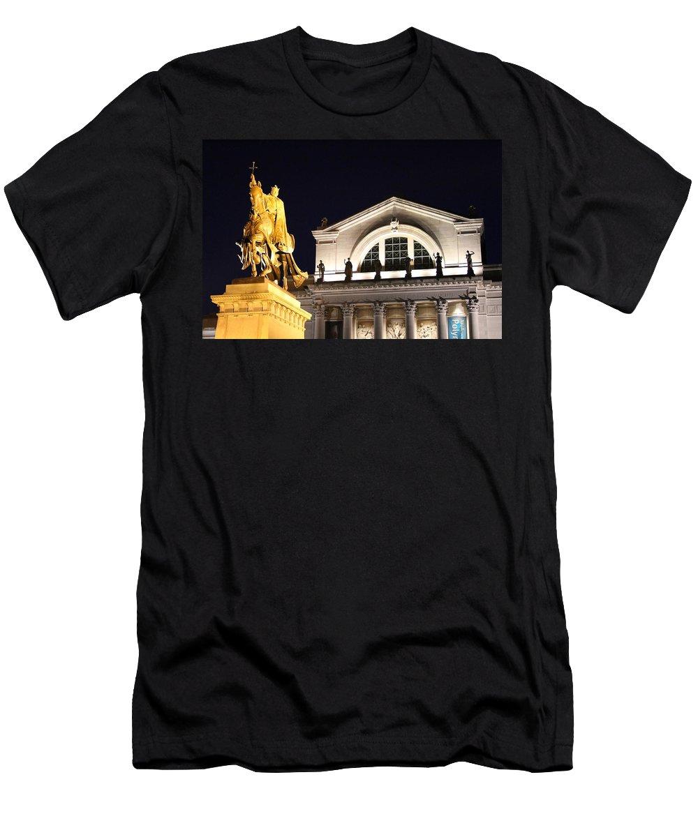 Saint Louis Men's T-Shirt (Athletic Fit) featuring the photograph The Illumination Of Saint Louis Ix by Christopher Miles Carter