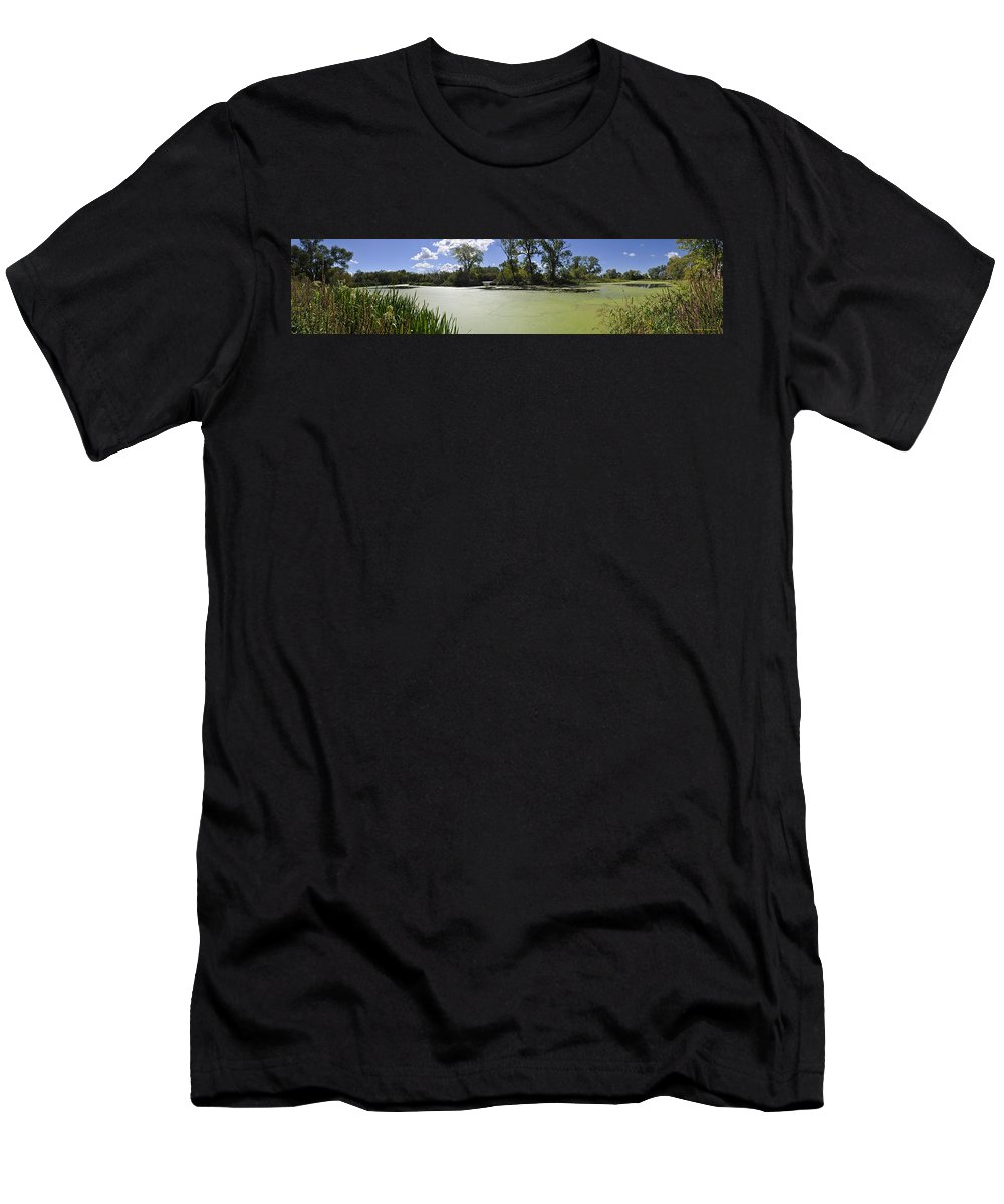 Indiana Wetlands Men's T-Shirt (Athletic Fit) featuring the photograph The Indiana Wetlands by Verana Stark